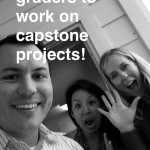 Good times after a meeting about the new 8th grade capstone project!